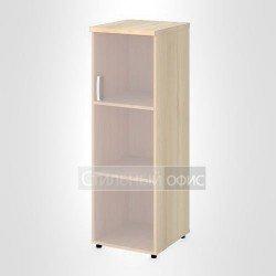 Шкаф узкий средний правый со стеклом без рамы офисный для персонала