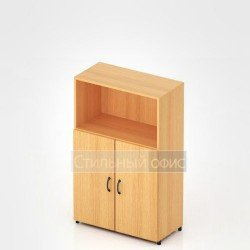 Шкаф низкий с открытой полкой для офиса