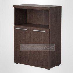 Шкаф с открытой нишей средний широкий офисный для руководителя