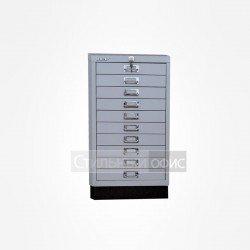 Шкаф металлический для документов с 10 ящиками