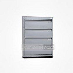 Металлический шкаф с ящиками