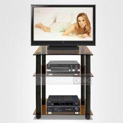 Подставка под телевизор со стеклянными полками