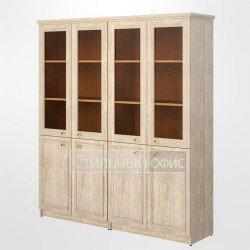 Шкаф полузакрытый офисный со стеклом для руководителя