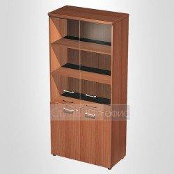 Шкаф для документов со стеклянными дверьми в офис для кабинета руководителя