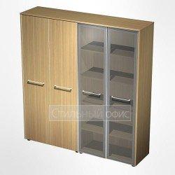 Шкаф комбинированный (стекло-одежда) в кабинет руководителя