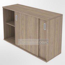 Шкаф купэ низкий офисный для документов