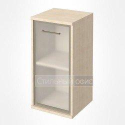 Шкаф низкий узкий со стеклом в рамке