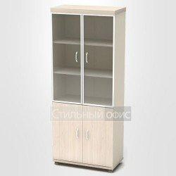 Шкаф со стеклом в алюминиевой рамке