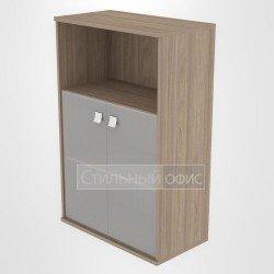 Шкаф средний широкий полузакрытый со стеклом