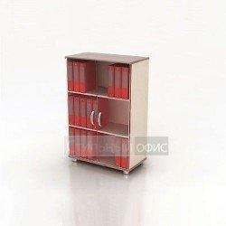 Шкаф средний со стеклянными дверками