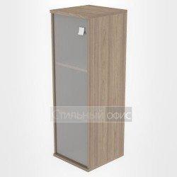 Шкаф средний узкий закрытый со стеклом