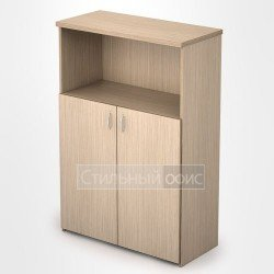 Шкаф в офис средний полузакрытый