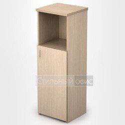 Шкаф в офис узкий средний полузакрытый