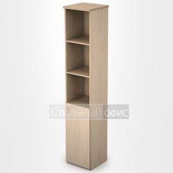 Шкаф в офис узкий высокий полузакрытый