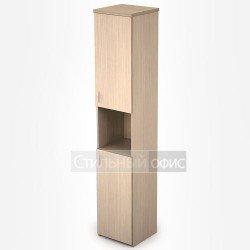 Шкаф в офис узкий высокий с нишей