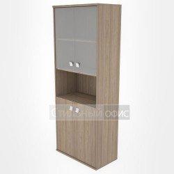 Шкаф высокий широкий полузакрытый со стеклом