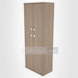 Шкаф высокий широкий закрытый с дверками
