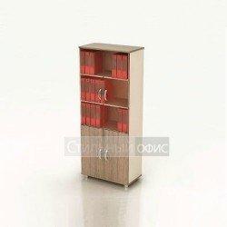 Шкаф высокий со стеклянными дверками