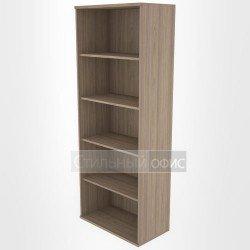 Стеллаж высокий широкий офисный деревянный