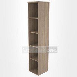 Стеллаж высокий узкий офисный деревянный
