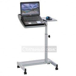 Стол для ноутбука с полкой серый