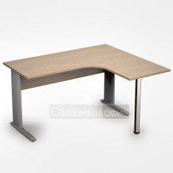 Стол на металлокаркасе криволинейный широкий правый