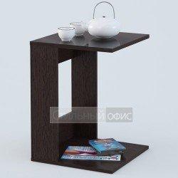 Стол журнальный квадратный со стеклянной столешницей