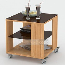 Стол журнальный со стеклянной столешницей