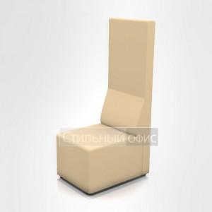 Кресло офисное без подлокотников с высокой спинкой