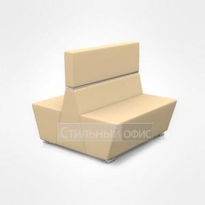 Диван двухместный сдвоенный мягкий для отдыха со средней спинкой