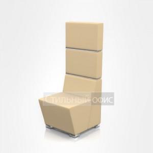 Кресло мягкое с высокой спинкой офисное
