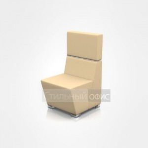 Кресло мягкое со средней спинкой офисное