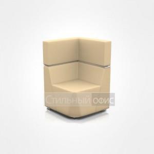 Кресло уголок мягкое со средней спинкой офисное