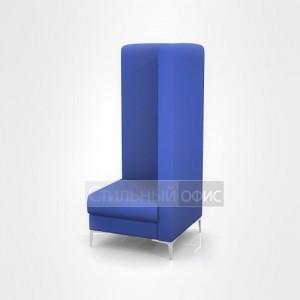 Кресло угловое мягкое левое с высокой спинкой офисное для отдыха
