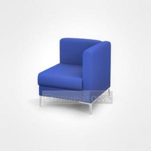 Кресло угловое мягкое правое с низкой спинкой офисное для отдыха