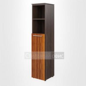 Шкаф высокий узкий полузакрытый левый офисный для руководителя
