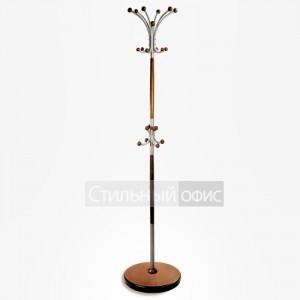Напольная деревянная вешалка для одежды коричневая