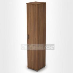 Шкаф офисный узкий высокий с дверками