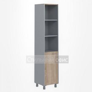 Шкаф высокий узкий левый полузакрытый офисный для сотрудников