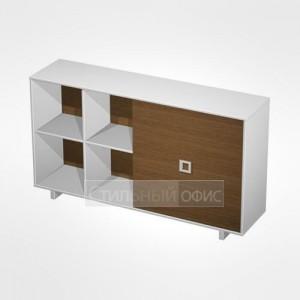 Шкаф-купе офисный для документов низкий (2 секции) в кабинет руководителя