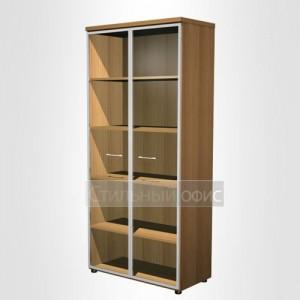 Шкаф для документов со стеклянными дверьми в рамке в офис для кабинета руководителя
