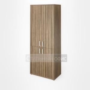 Шкаф широкий высокий закрытый с дверками