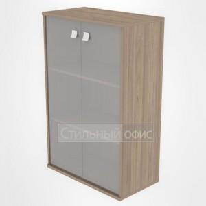 Шкаф средний широкий закрытый со стеклом