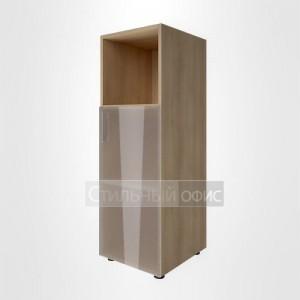 Шкаф средний узкий с низкой стеклянной дверкой