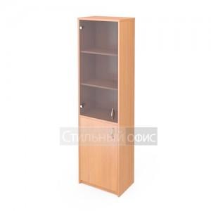 Шкаф узкий со стеклянной тонированной дверкой