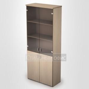 Шкаф в офис со стеклянными дверками