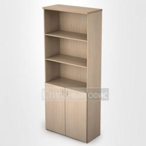 Шкаф в офис для документов полузакрытый