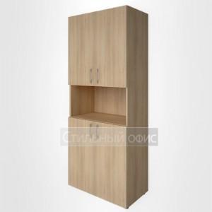 Шкаф высокий широкий с дверками и нисшей