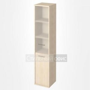 Шкаф высокий узкий со стеклянной дверкой