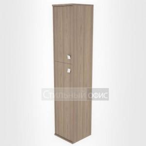Шкаф высокий узкий закрытый с 2 дверками